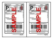 100 Shipping Labels Self Adhesive Half Sheet Print Paper USPS Postage 8.5 x 5.5
