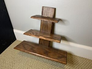 Oak Shelf stained with a dark brown finish. About 15x15x5 inches