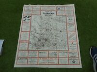 100% ORIGINAL LARGE HARROGATE AND DISTRICT FOLDING MAP  BY RANSLEY C1930/S VGC