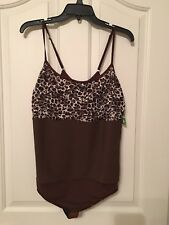 Womens New Brown Body Suite By Carol Wior Size XL