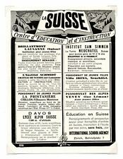 """1940/advertising for switzerland """"centre of education and training""""/ld99"""