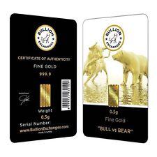 """1/2 Gram Bullion Exchanges """"BULL vs BEAR"""" Istanbul Gold Refinery (IGR) .9999 Gol"""