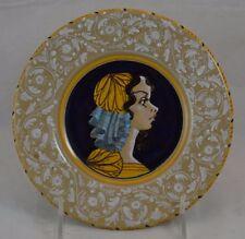 Gemi Faenza Small Italian Portrait Plate Spanish Woman