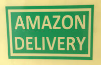 """AMAZON DELIVERY"" sticker decal sign door window glass bumper car"