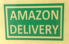 """AMAZON DELIVERY"" sticker decal sign Uber lyft door window glass bumper car"