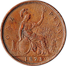 More details for 1873 one penny of queen victoria /very high grade       #jan23