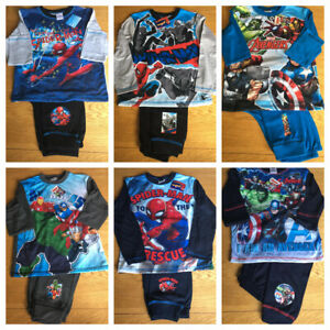 Girls Boys Marvel Super Hero Spider-man Spiderman Cotton Pyjamas Pj's 7-8 9-10