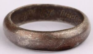RING The Labor arms WW2 wwII or WW1 wwI LATIN Armis Et Labore SILVERplate Bronze