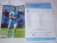 COVENTRY CITY v MANSFIELD TOWN - 11/11/2017 - PROGRAMME AND TEAMSHEET