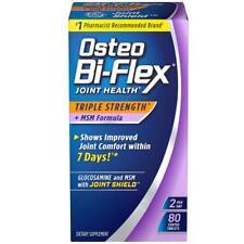 Osteo Bi-flex Joint Health Triple Strength MSM Formula Dietary Supplement 80 Count