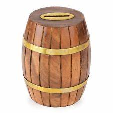 New ListingHandmade Unique Shape Wooden Barrel Money Piggy Bank / Coin Box / Birthday Gift