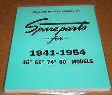 Harley 1941-1954 Side Valve Models Spare Parts Book for UL, FL, WL (820)