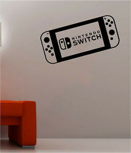 Nintendo Switch Wall Stickers Console Gamer Vinyl Decals Gaming Room Decors