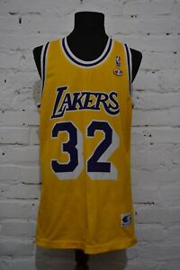 Champion Earvin Magic Johnson Rare Vintage NBA Los Angeles Lakers Jersey Mens XL