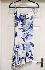 BNWT impresionante para mujer Vestido de Diseñador Floral azul de Roberto Cavalli Talla Mediana M