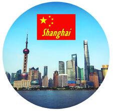 Shanghai,Cina - rotondo SOUVENIR CALAMITA FRIGO - Viste / BANDIERE /