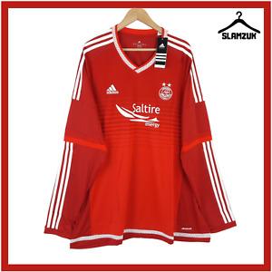 Aberdeen Football Shirt Adidas 3XL XXXL Home LS Soccer Jersey Dons 2015 2016 A54