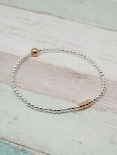 40th Birthday! Sterling Silver & Rose Gold Bracelet 4 hoops 4 decades