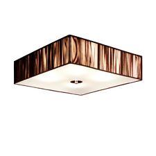 s.LUCE Twine LED Deckenleuchte mit Stoffschirm 45x45 cm Deckenlampe Braun