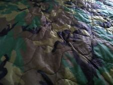 USED Condition US MILITARY ISSUE WOODLAND CAMOUFLAGE ARMY PONCHO LINER