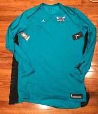 5592084921e341 Men s Nike Jordan Charlotte Hornets Elite Shooter Long Sleeve Shirt 4xlt