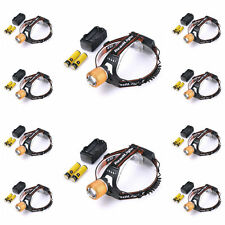 10x Adjustable XM-L T6 3000LMLED Headlight +18650 Battery&Charger Camping