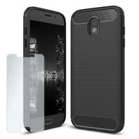 Full Cover For Samsung Galaxy J7 (2017) J730 Tempered Glass Shockproof Slim Case