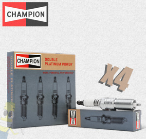 Champion (7989) Double Platinum Spark Plug - Set of 4