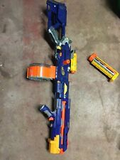 Nerf long strike CS-6, Drum Magazine, Site, Barrel and clip lot
