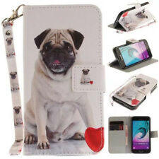 Pug dog Pattern Card Leather Magnetic Flip Wallet Case Cover For Various  phones