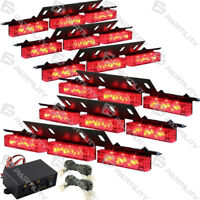 54 Red LED Emergency Vehicle Strobe Flash Lights Front Grill Car Truck Traffic