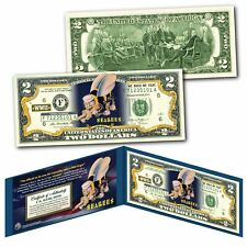 NAVY SEABEES WWII Military CB Construction Builders Genuine Legal Tender $2 Bill