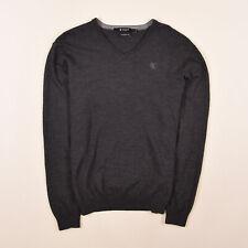 Tiger Of Sweden Herren V-Neck Pullover Sweater Gr.M 100% Merino Wolle Mike 83395