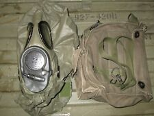 Authentic Medium M17 M17A2 Bio Gas Mask Respirator & Filters & Pouch Bag W Hood