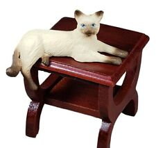 Miniature Dollhouse Lying Siamese Cat Laying 1:12 Scale New