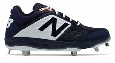New Balance Low-Cut 3000v4 Metal Baseball Cleat Mens Shoes Navy with White Size