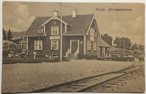 Sweden Postcard Alunda Railway Station Depot c.1910