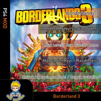 Borderland 3 (PS4/PC) Mod - Max/Money/Eridium/Level/Keys/Guardian token