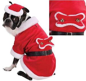 Zack & Zoey SANTA PAWS Dog Costume Hat Beard Adjustable-Belt Soft Red Velour