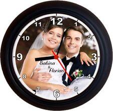 Fotouhr Wanduhr Geschenk Hochzeit Hochzeitstag Vermählung Hochzeitsgeschenk Uhr