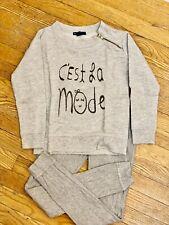 Gap Girls Grey Set Pants Sweater Sz S 6/7