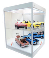 LED Display Case Mirror Backed With Rotary Table Black Base T9 69929mw