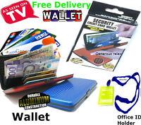 Credit Card ID Wallet Holder Aluminum Waterproof Business Metal Pocket Case Box