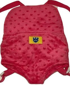 BABW Build A Bear Workshop Bear Backpack Carrier Pouch Cute Pink Girly Plush