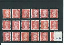 GB - WHOLESALE - MACHIN DEFINITIVES - MA182. 25p ROSE RED - 18  COPIES - USED