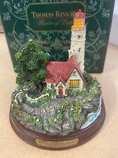 Thomas Kinkade Seaside Memories Beacon of Hope Lighted Lighthouse Lights Up