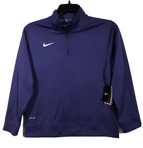 Nike Dry-Fit 1/4 Zip Pullover Shirt Boys Youth Large Orchid Purple 25875 NWT