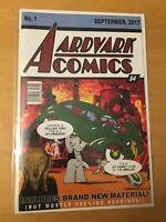 AARDVARK COMICS 1, NM (9.2 - 9.4) 1ST PRINT, ACTION COMICS 1 HOMAGE