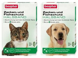 Flohschutzhalsband Zeckenschutzhalsband Hund Katze Ungeziefer Beaphar Margosa