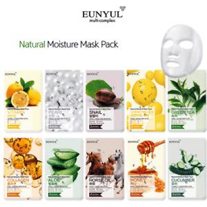 EUNYUL Moisturizing Nourishing Brightening Natural Mask 10 Kinds 10 Packs 22ml